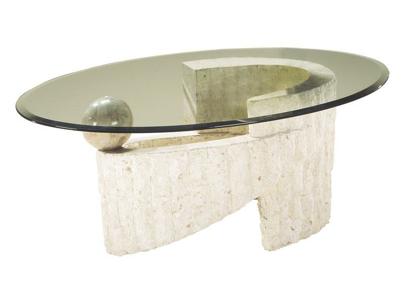 Magnussen Ponte Vedra Glass Oval Coffee Table Reviews Wayfair