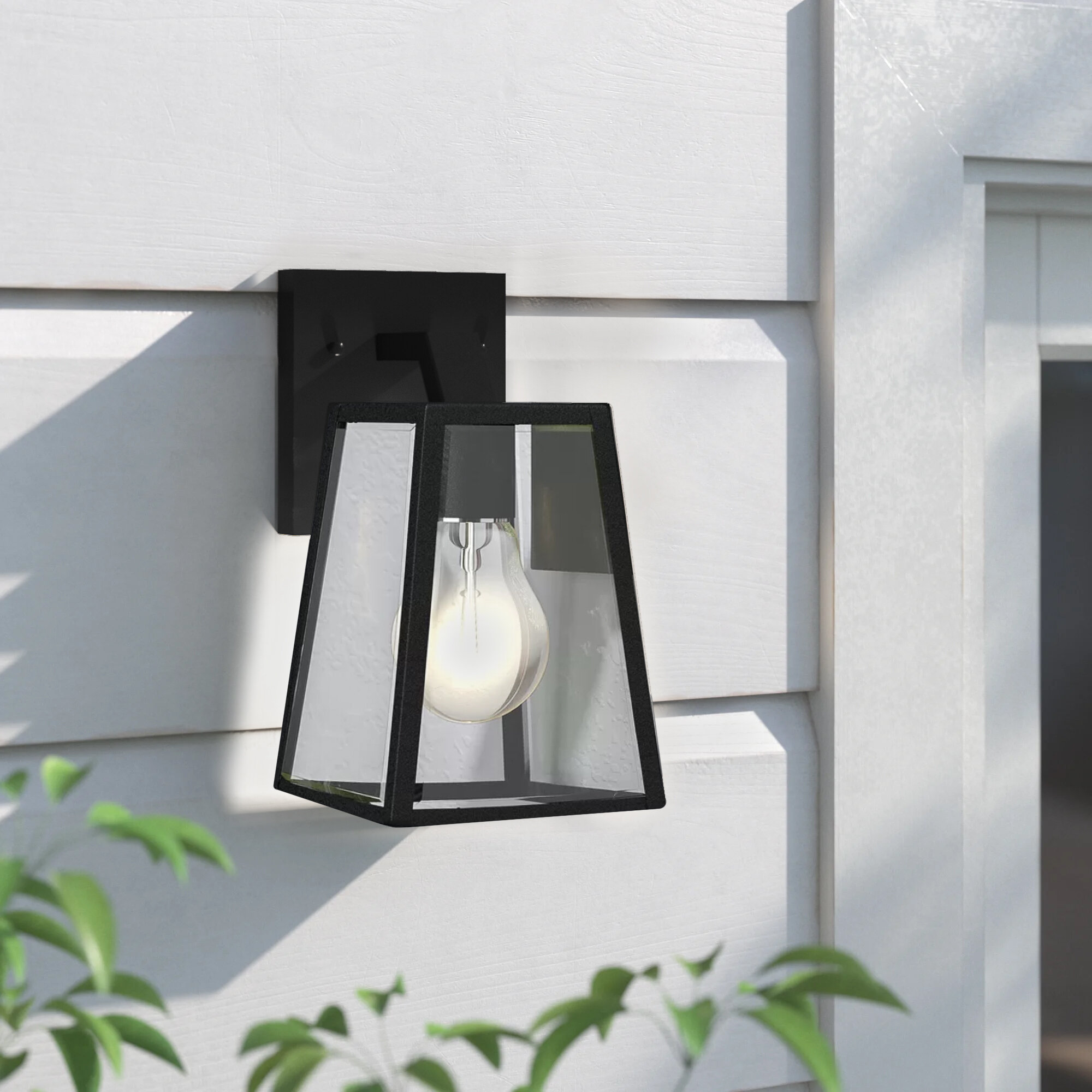Sol 72 Outdoor Clarence Black 1 Bulb Outdoor Wall Lantern Reviews Wayfair