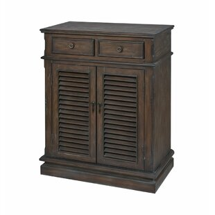 Kate Slatted 2 Drawer Accent Cabinet by Canora Grey