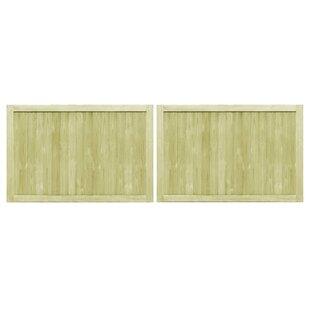 Sarenac Garden 10' X 3' (3m X 1m) Wood Gate (Set Of 2) By Sol 72 Outdoor