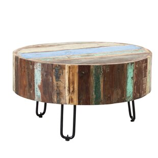 Tallulah Coastal Drum Coffee Table By World Menagerie