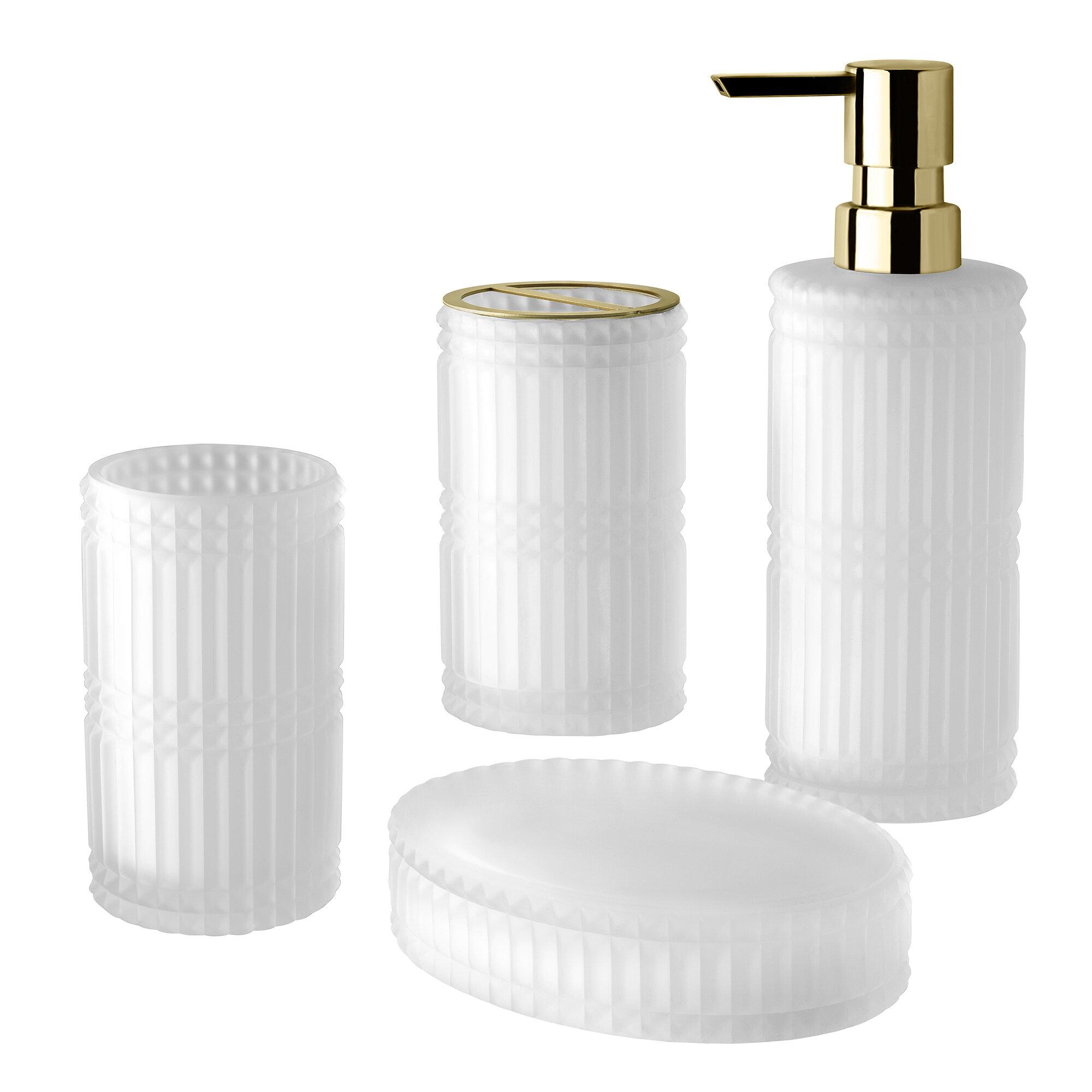 Everly Quinn Michie 4 Piece Bathroom Accessory Set Wayfair