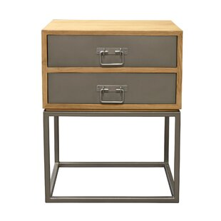 Hinkel 2 Drawer Nightstand