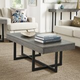 Gilda Cross Legs Coffee Table with Storage by Union Rustic