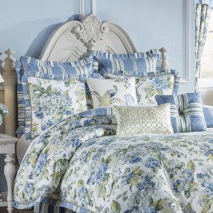 Floral Engagement 4 Piece Reversible Comforter Set by Waverly