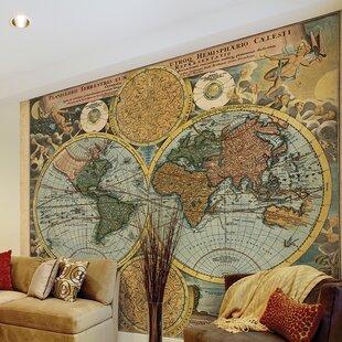 Wall Mural Designs collect this idea design wall murals Travelers Globe 118 X 94 Wall Mural