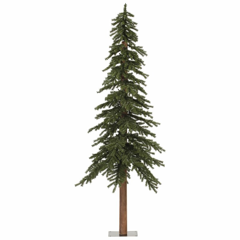 Natural Alpine Green Pine Artificial Christmas Tree - The Holiday Aisle Natural Alpine Green Pine Artificial Christmas