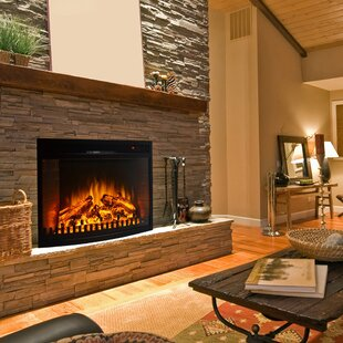 Perkins Curved Electric Fireplace by Winston Porter