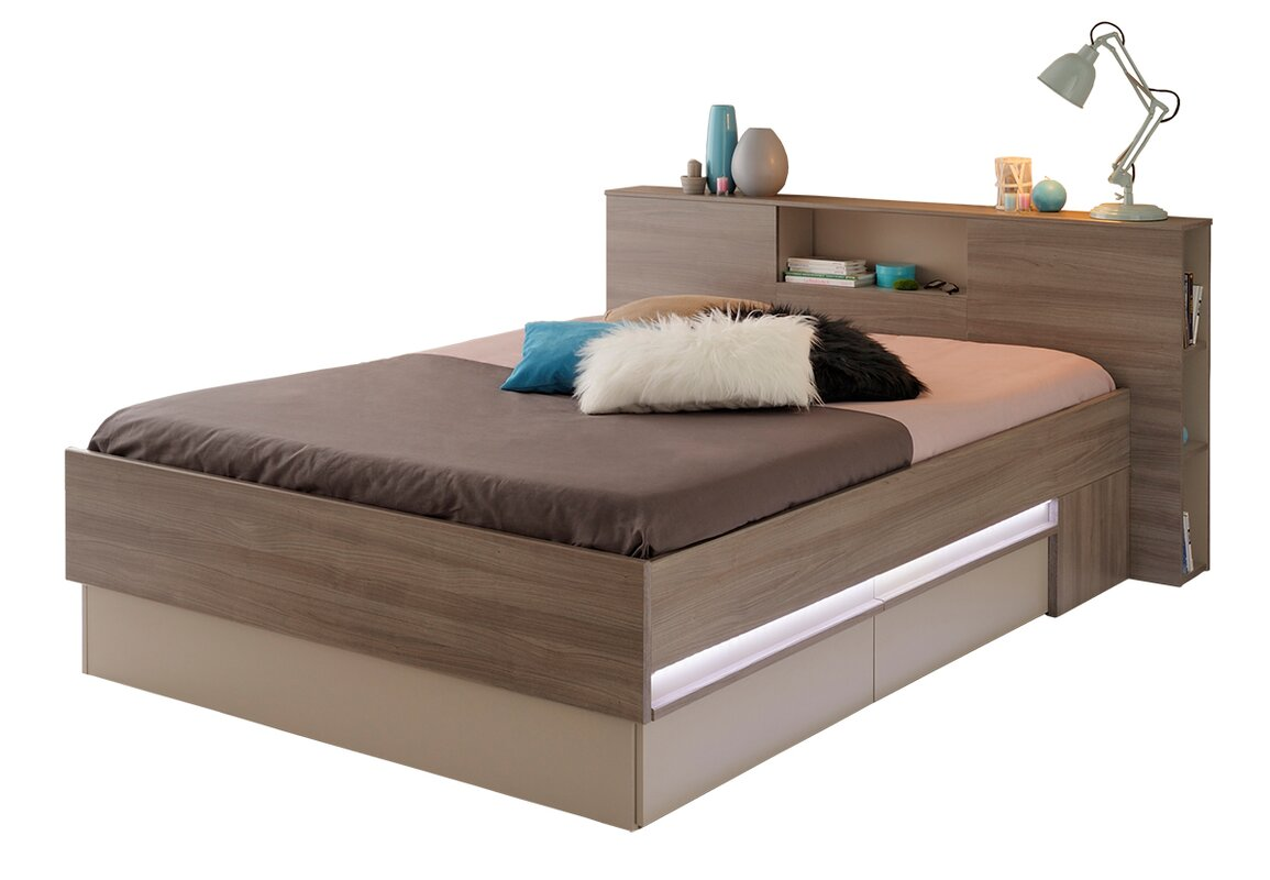 parisot satty fulldouble storage platform bed  wayfair - defaultname