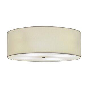 Meyda Tiffany Cilindro Textrene 4-Light Flush Mount