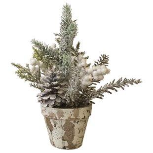 White Winter Pine Floral Arrangement