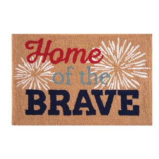 Cleveland Home Of The Brave Patriotic Parfait Tan Area Rug