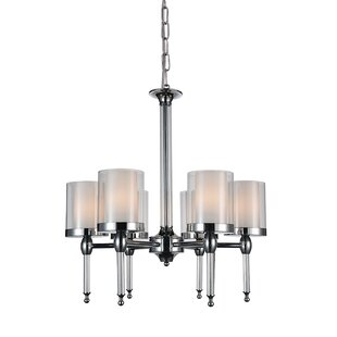 Maybelle 6-Light Shaded Chandelier By CWI Lighting