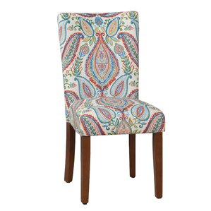 Powers Paisley Parsons Chair (Set of 2) by Bungalow Rose