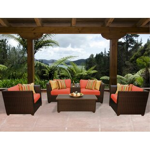 Barbados 6 Piece Sofa Seating Group with Cushions by TK Classics