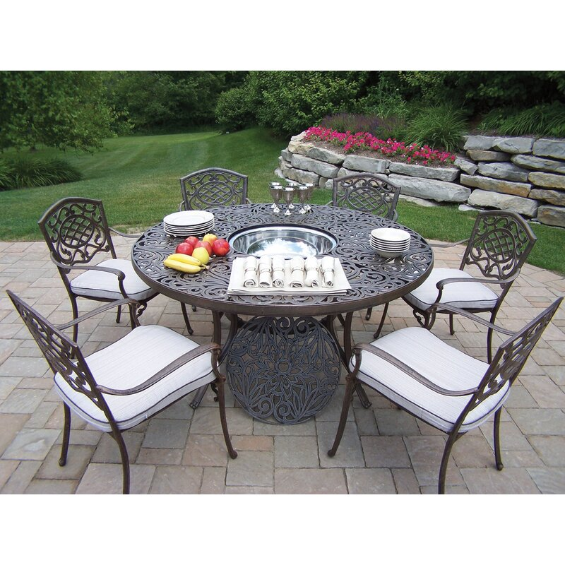 oakland living mississippi dining set with cooler insert and