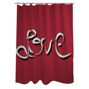 Hand Painted love Single Shower Curtain