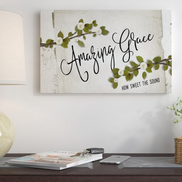 Winston Porter 'amazing Grace Floral' Textual Art On Wrapped Canvas & Reviews by Winston Porter