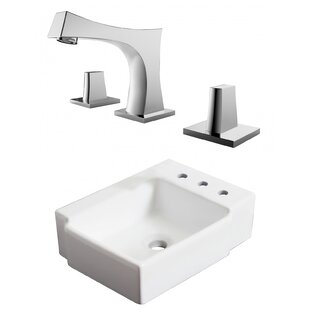 Compare prices Ceramic 16.25 Bathroom Sink with Faucet and Overflow ByRoyal Purple Bath Kitchen