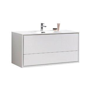 Trieu 47 Wall-Mounted Single Bathroom Vanity Set