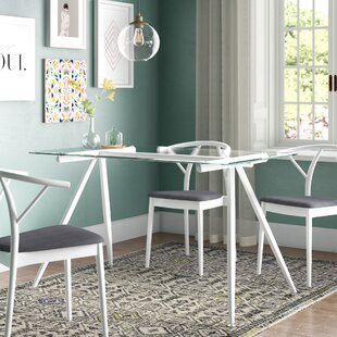 Woodhouse Contemporary Glass Dining Table Brayden Studio