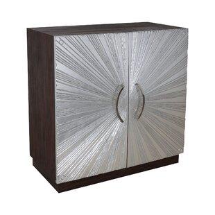 Arceneaux Silver Leaf 2 Door Accent Cabinet by Ivy Bronx