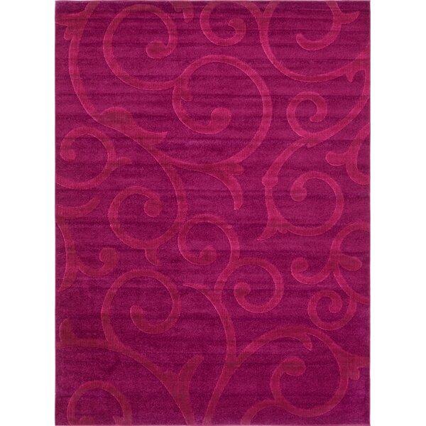 Ebern Designs Cartagena Wool Violet Area Rug Reviews Wayfair