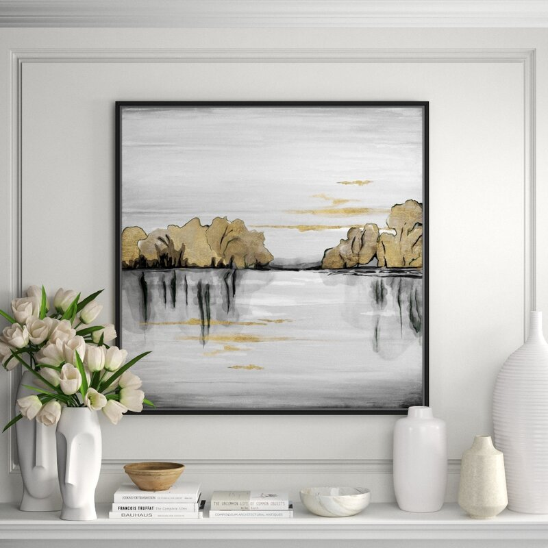Jbass Grand Gallery Collection Golden Day Framed Watercolor Painting Print On Canvas Perigold