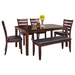 Loon Peak Downieville-Lawson-Dumont Modern 6 Piece Wood Dining Set