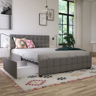 Elizabeth Upholstered Platform Bed with Storage by CosmoLiving by Cosmopolitan