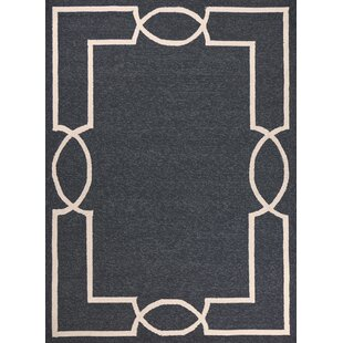 Hamptons Madison Hand-Hooked Onyx Indoor/Outdoor Area Rug