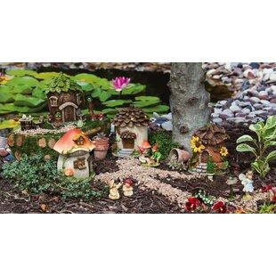 Fairy House 4 Piece Fairy Garden Set