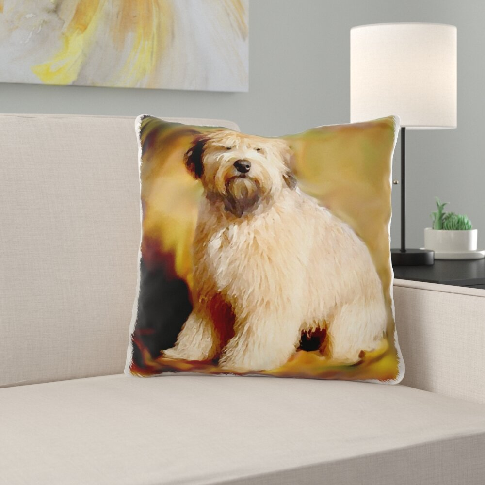 East Urban Home Mcphail Soft Coated Wheaten Terrier Pillow Cover Wayfair