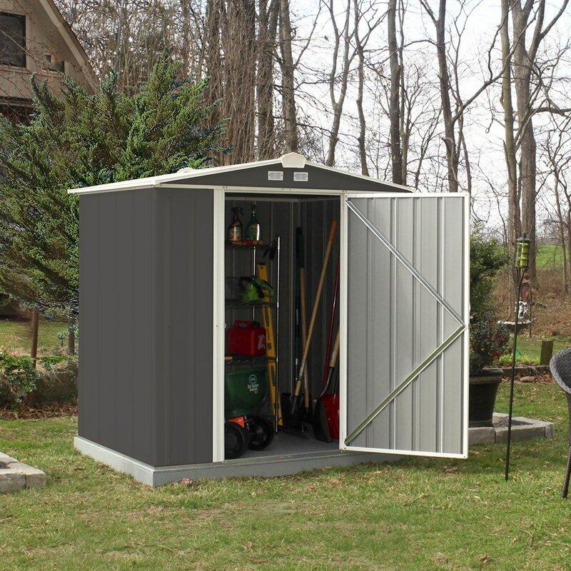 metal storage sheds youll love wayfair