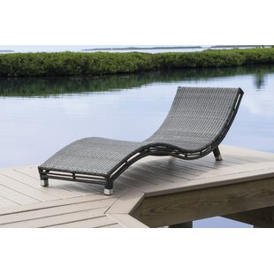 Graphite Curve Chaise Lounge by Panama Jack Outdoor