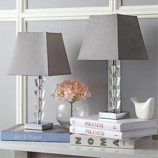 Bargain Avalon Deco 17.25 Table Lamp (Set of 2) By Safavieh
