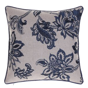 Flavien Embroidered French Country Throw Pillow