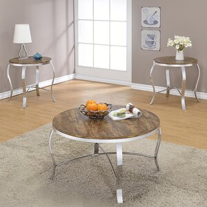 Malai Weathered 3 Piece Coffee Table Set