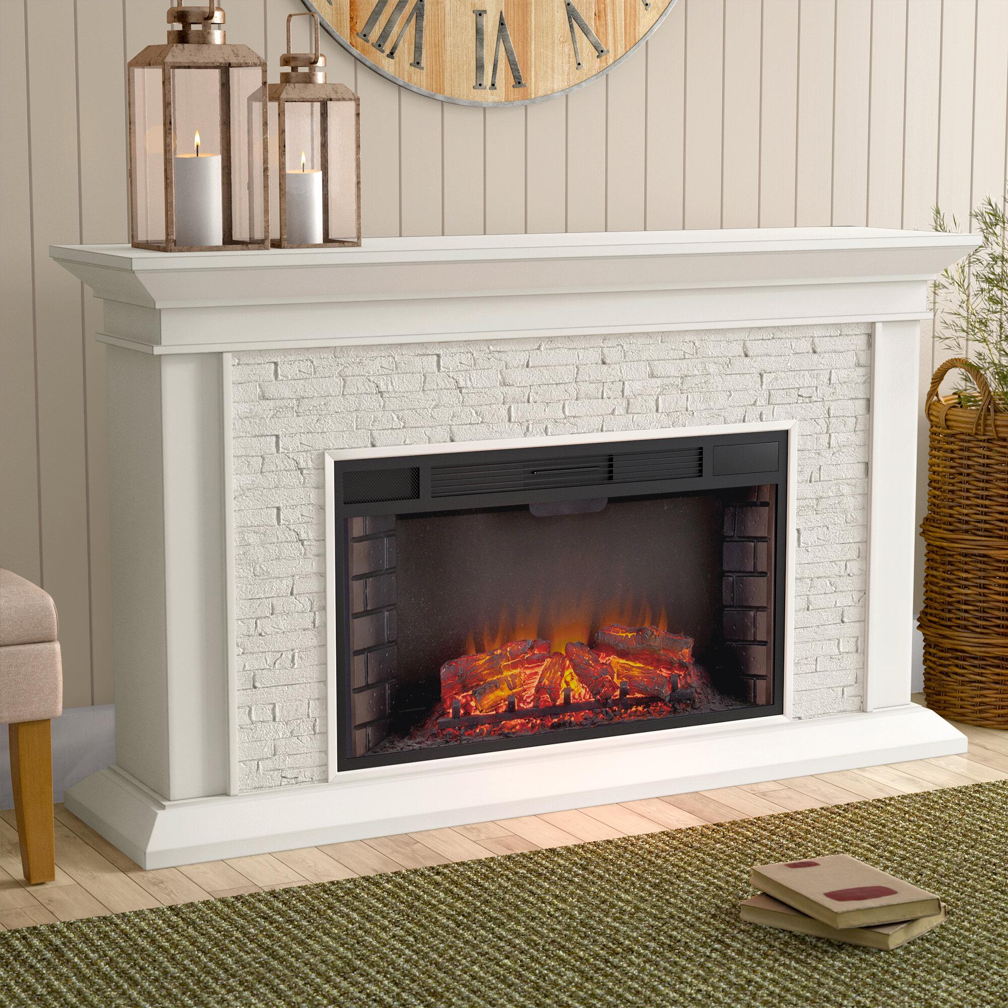 darby home co alvar simulated electric fireplace reviews wayfair rh wayfair com