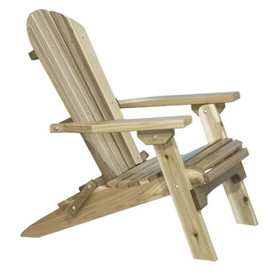 Loon Peak Abordale Solid Wood Folding Adirondack Chair