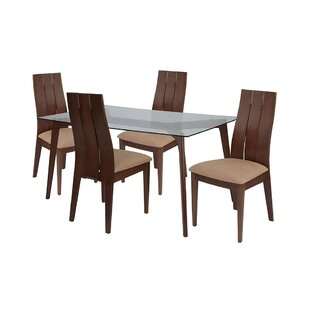 Leonie 5 Piece Dining Set by Ebern Designs
