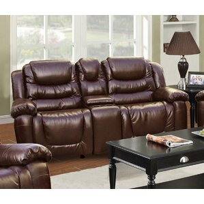 Ottawa Leather Reclining Sofa by Beverly Fin..