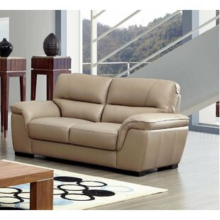 Latitude Run Alivia Leather Loveseat