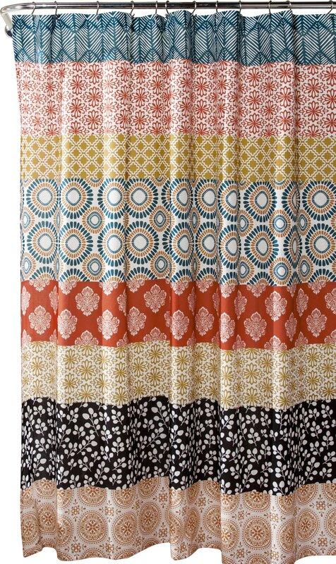 brown and orange shower curtain. Bradlo Stripe Shower Curtain Bungalow Rose  Reviews Wayfair