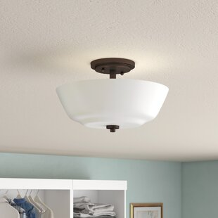 Torbett 2-Light Semi Flush Mount by Charlton Home