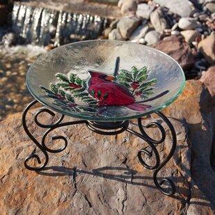 Evergreen Flag & Garden Table Top Stand Birdbath