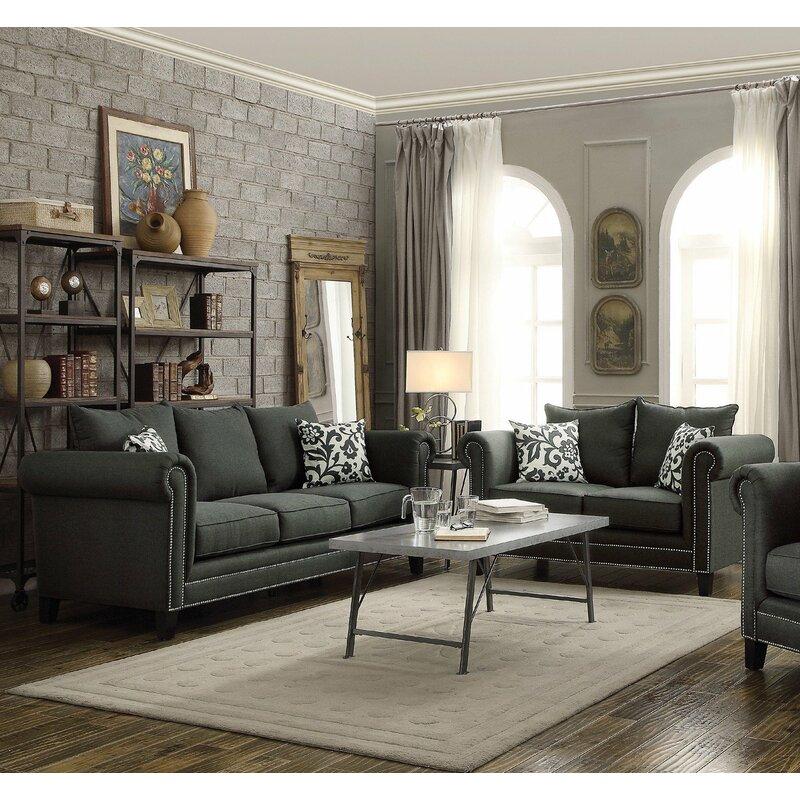 Infini Furnishings Rosemary 2 Piece Living Room Set