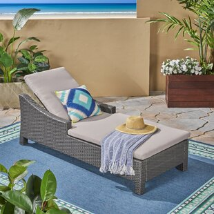 Burke Outdoor Reclining Chaise Lounge with Cushion