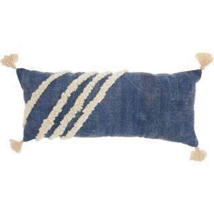 Diagonal Texture 100% Cotton Lumbar Pillow
