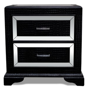 Affordable 2 Drawer Nightstand by BestMasterFurniture